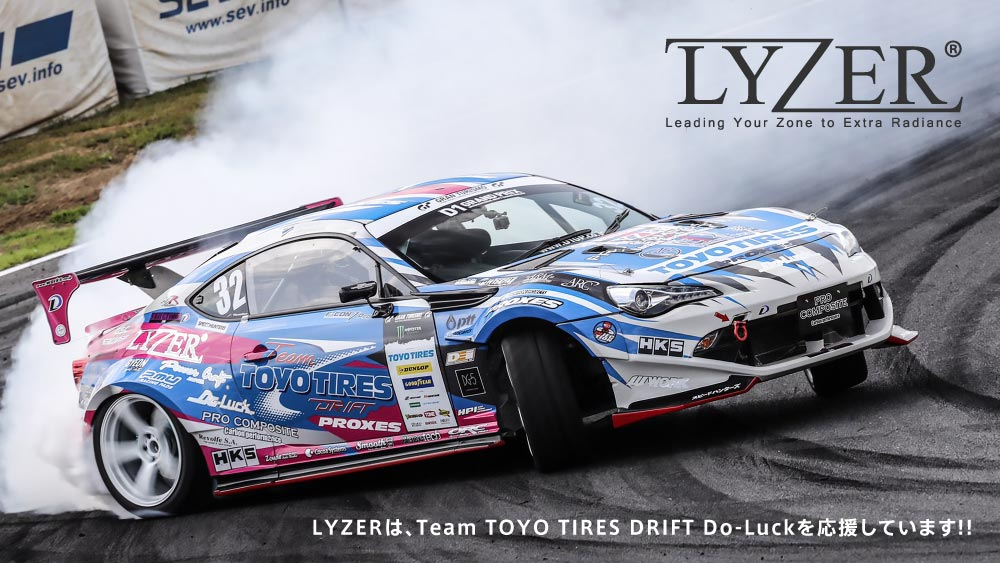 LYZER協賛Team TOYO TIRES DRIFT Do-Luck D1 LYZER-VR386